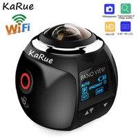 KaRue 2.7K 360 Action Camera Wifi Mini Panoramic Camera 2448*2448 Ultra Video Camera 360 Degree Sport Driving VR Camera