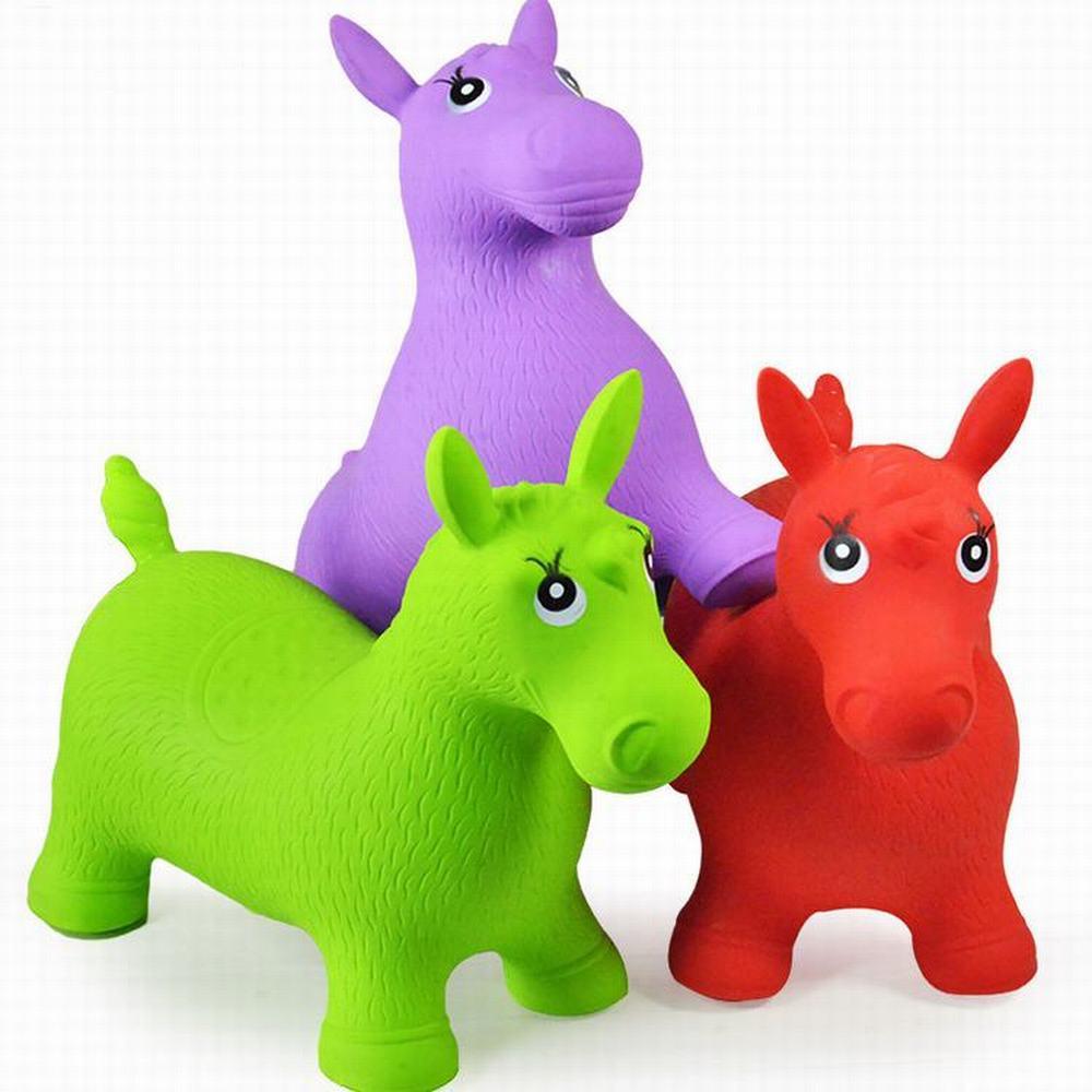 Enfants Animal Inflata cheval trémie jouets sautant cheval équitation animaux jouets bébé jouer en plein air/intérieur jouets pompe à main