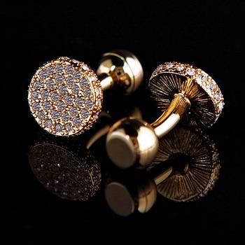 Yellow Gold Jewelry shirt cufflinks men's Brand Light