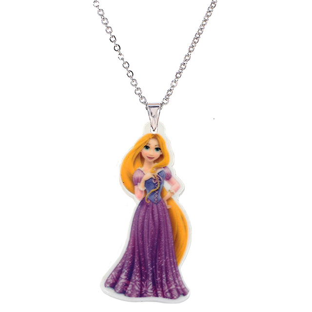 Cartoon princess plastic pendant necklace for little girl metal cartoon princess plastic pendant necklace for little girl metal silver chain flatback planar resin children necklaces mozeypictures Choice Image