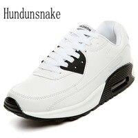 Hundunsnake Summer White Air Cushion Running Shoes Women Sneakers Lady Platform Krasovki Female Sport Gumshoes Trainers