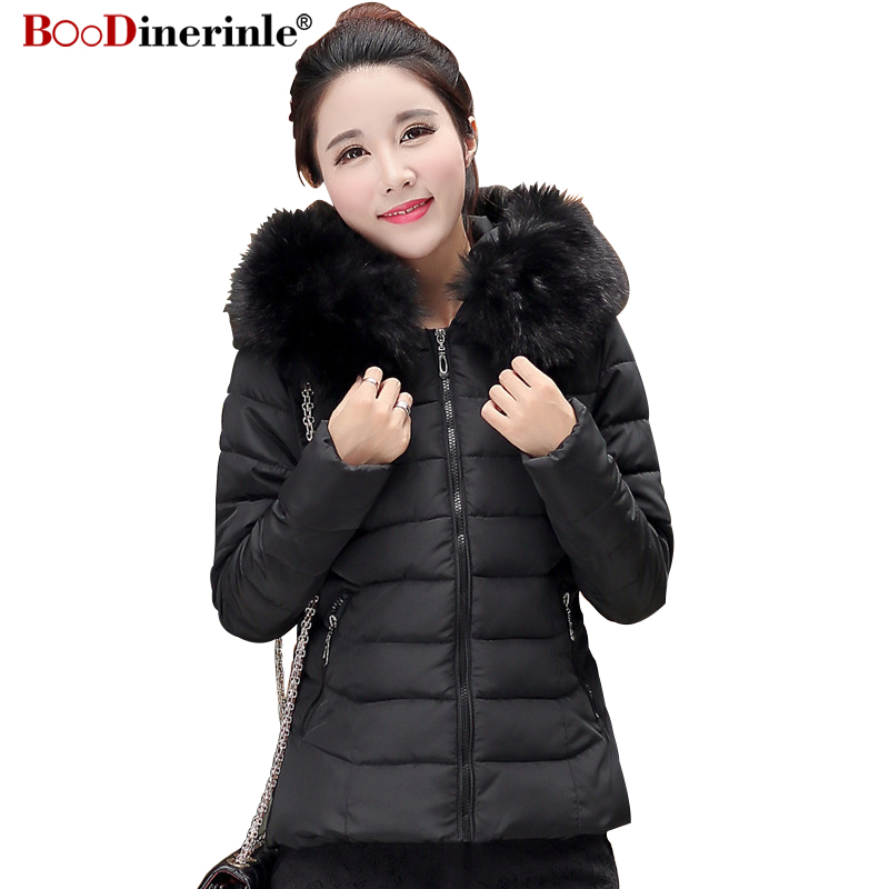 2018 Winter Jacket Women Plus Size 4XL Women   Parkas   Thicken Outerwear Female Slim Cotton Padded Basic Tops Hooded Coats MY220
