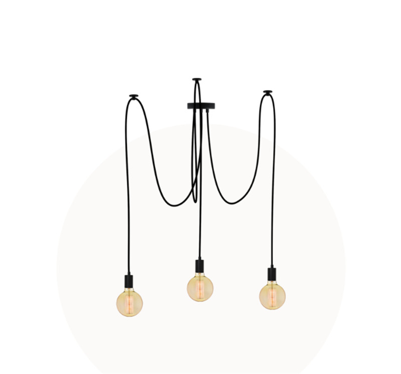 3-5-7-9-14-19 heads chandelier black socket fabric wire 2 meters DIY swag chandelier with G80 antique amber bulbs3-5-7-9-14-19 heads chandelier black socket fabric wire 2 meters DIY swag chandelier with G80 antique amber bulbs