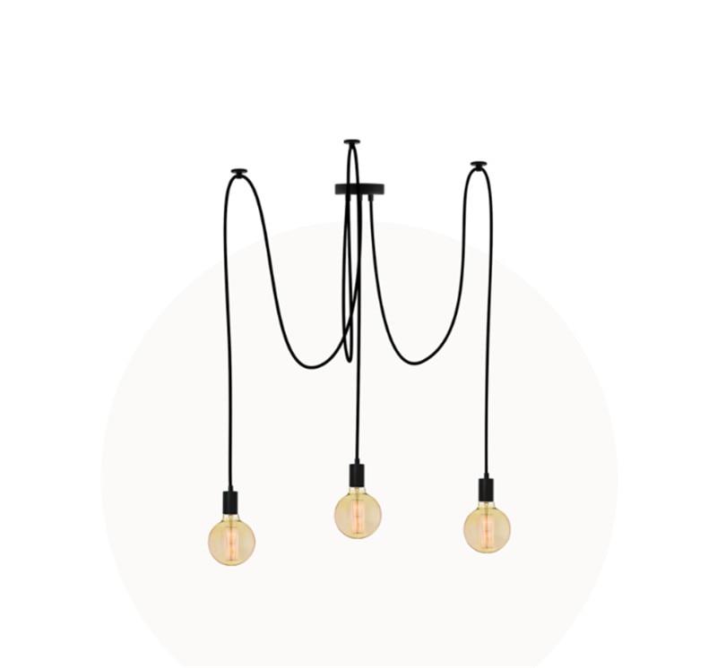 3 5 7 9 14 19 heads chandelier black socket fabric wire 2