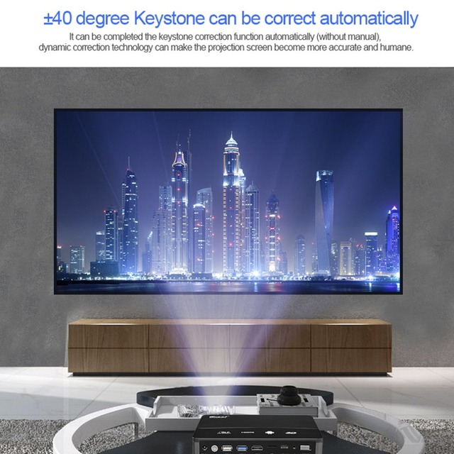 Special Price Black RD601 Smart Builtin Battery Andorid4.4 WIFI LED MINI DLP Projector 3D Beamer Miracast Bluetooth Home Cinema Airplay UK