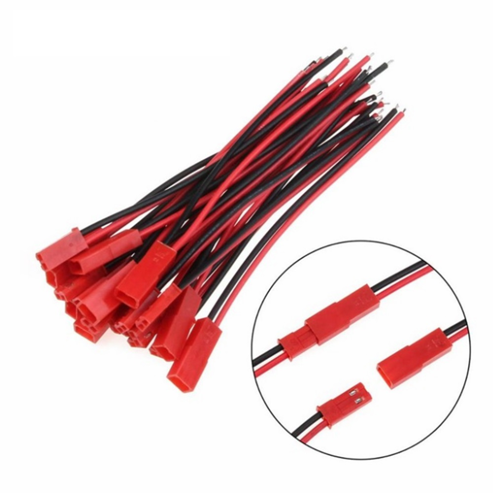 2/5/10Pairs 100/150mm 2 Pin Connector JST Plug Cable Male/Female For RC BEC Battery Helicopter DIY FPV Drone Quadcopter Dropship