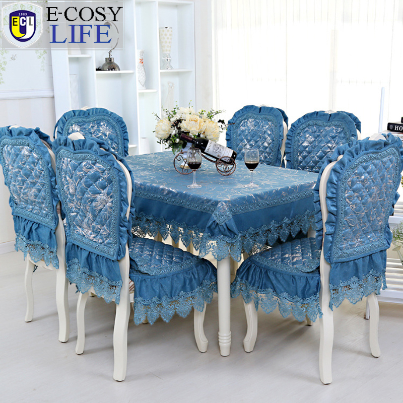High Quality Blue Chenille Table Cloth Rectangular Fashion Home Decor Kitchen  Tablecloths And Chair Covers Dining Table Chair ...