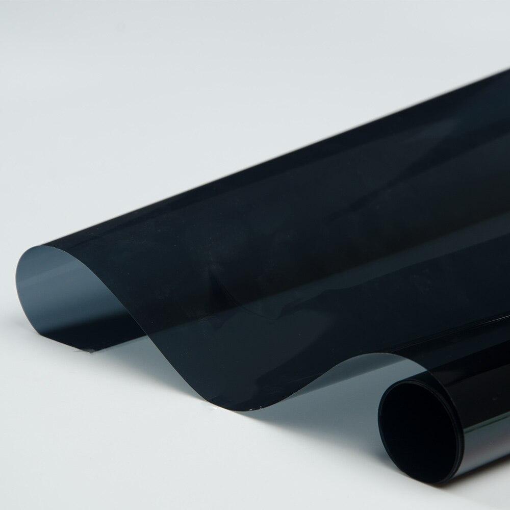 VLT15 % noir Auto voiture clair fenêtre verre Auto-adhésif vinyle Film 100% UV preuve 99% IR rejet Nano céramique Film 0.5*10 mètres - 4