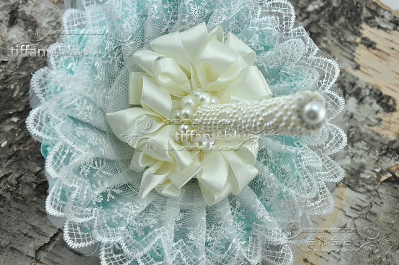 handmade original tiffany blue flower bouquets pearl beaded and ...