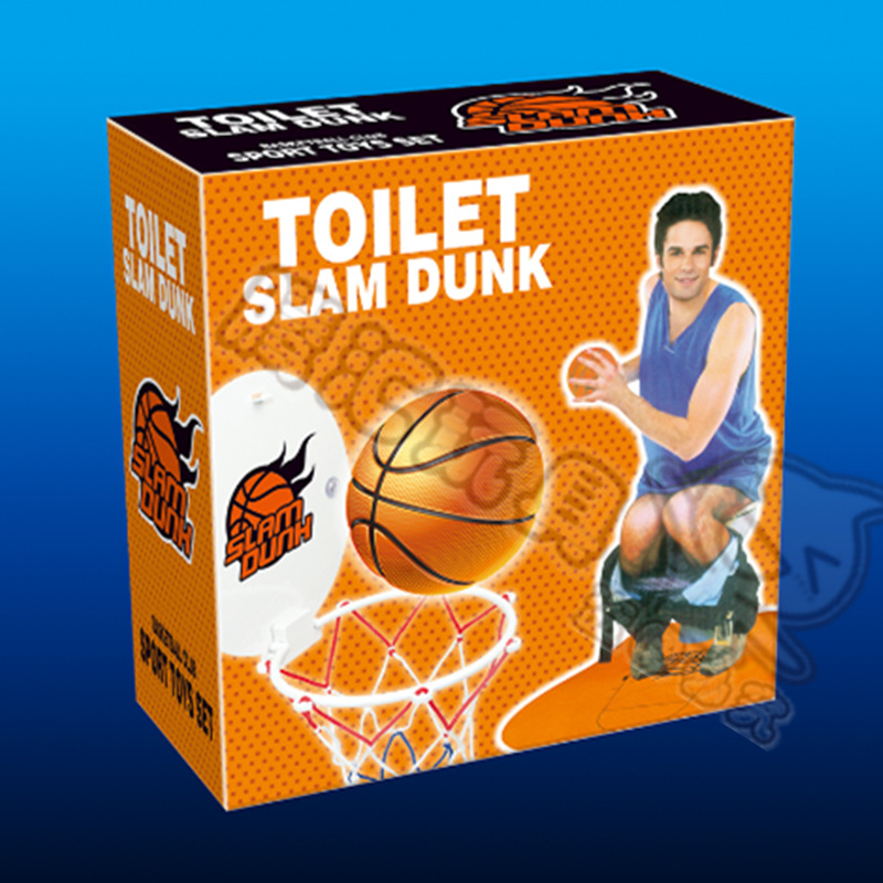 ALTH2 Indoor outdoor leisure font b sport b font toy basketball mini toilet basketball package children