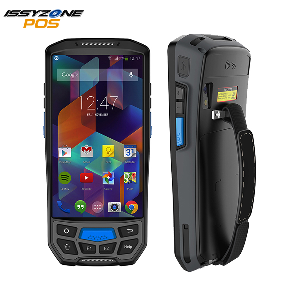 IssyzonePOS Android 7.0 Handheld PDA Wireless WIFI Bluetooth 1D 2D QR Barcod Scanner GPS NFC UHF RFID Handheld POS Terminal