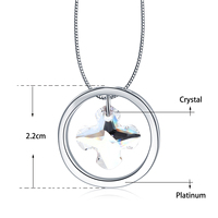 Cross Pendant Necklaces Bead Chain For Women Crystal From Swarovski Wedding Necklace Jewelry Christmas Gifts Wholesale
