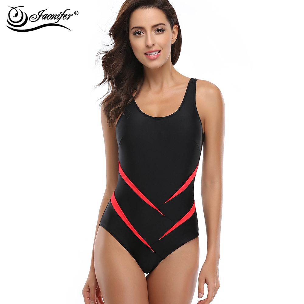 JAONIFER Women One Piece Swimsuit Sexy Backless One Piece Swimwear Women's Swimming Bathing Suit Girl's Sport Beachwear Tankini подвесная люстра mantra star led 5911