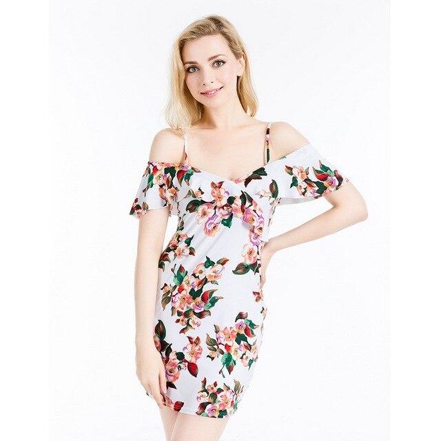 Brand Design Summer Dress 2016 Style Printing Flower Women Mini Vestidos Short Beautiful Soft