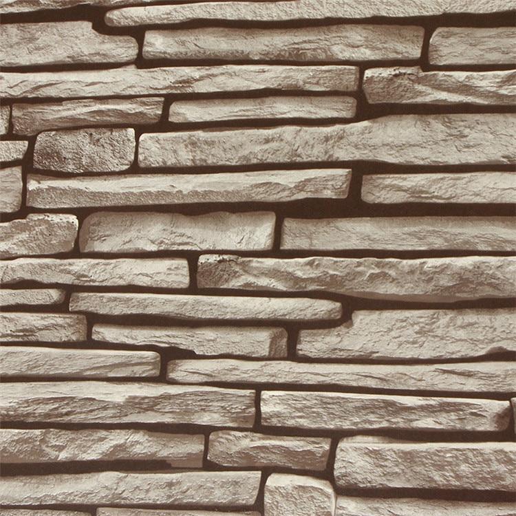 Wallpaper Batu Bata 3d 3d Wallpaper Stone Brick Wall Paper Roll Vintage Rock