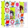 2016 Специальное Предложение Топ Моды Красный Armario 16 Кубов Легко Diy Пластиковые Модульные Корейских детей Мультфильм Шкаф Гардероб
