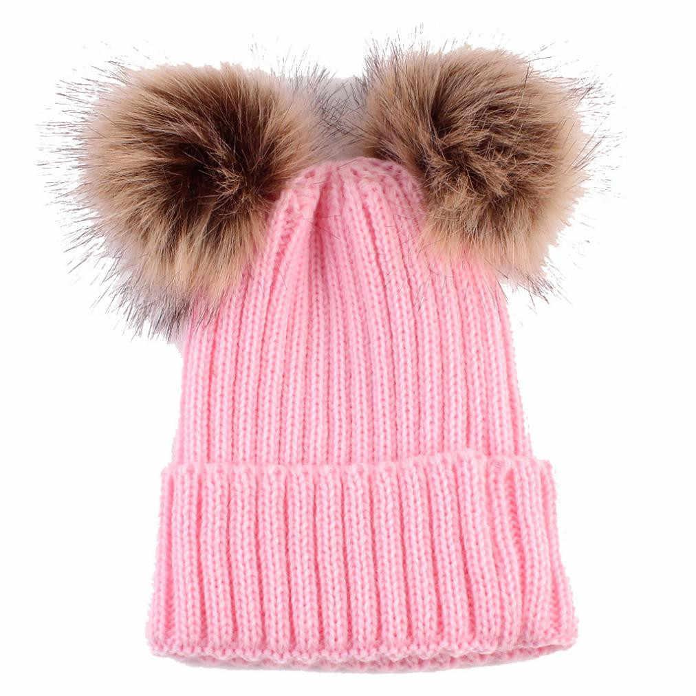 เด็กหมวกฤดูหนาวเด็กหญิง Boys หมวกน่ารักหมวกทารกแรกเกิดเด็กวัยหัดเดินหมวกอบอุ่นถักหมวก Beanie