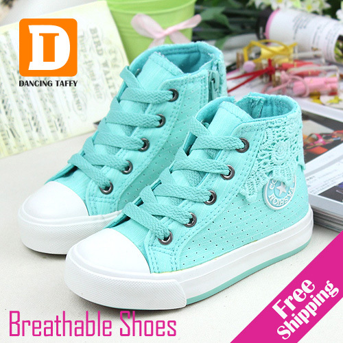 Breathable Girls Shoes 2017 New Children Shoes Kids Casual Spring Summer Children Sneakers Canvas Hole Colorful Girls Sneakers ...