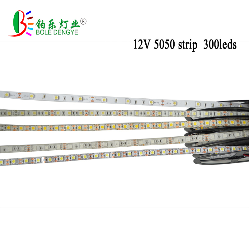 5M RGB led strip light DC12V SMD 5050 60 leds light tape diode flexible led ribbon strip IP65 /IP20 Green Blue Red Warm white