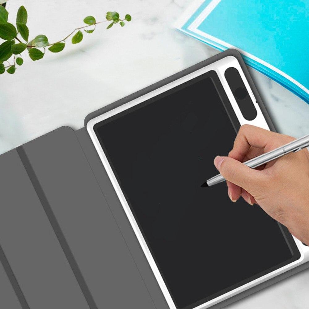 Tableau d'écriture d'entreprise intelligente de 10.1 pouces avec étui de protection LCD tablette d'écriture électronique planche à dessin pour la conception des étudiants