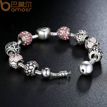 Antique 925 Silver Charm Bracelet & Bangle for Women Wedding jewelry(China)