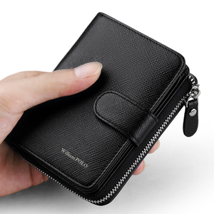 Image 3 - WILLIAMPOLO Man Walet Genuine Leather Hasp Closure Card Holder Small Bag With Gift Box for Men Card Wallet Mens Wallet PL319