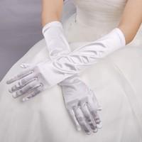 Lolita Weiß Lange Handschuhe Frau Hochzeitskleid Handschuhe Cosplay Kostüm
