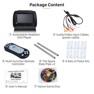 Image 5 - XST Monitor de 9 pulgadas para reposacabezas de coche, pantalla táctil, reproductor de DVD, vídeo MP5, cubierta con cremallera, compatible con IR/FM/USB/SD/altavoz/juego, 2 uds.