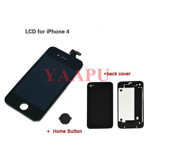 Para iPhone 4 4 G preto digitador de toque de substituição de tela LCD tampa +