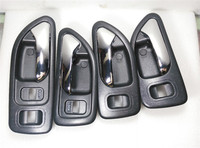 4 PCS A Set Brown Door Inside Handle Internal Buckle For 1994 1997 Honda Accord 2