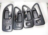 4 PCS A Set Brown Door Inside Handle Internal Buckle For 1994 1997 Honda Accord 2