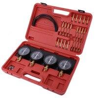 Hot Universal 4 in 1 Fuel Vacuum Carburetor Synchronizer Set Sync Gauge Vacuum Hoses Extensions Kit For Motorcycle Car Tools