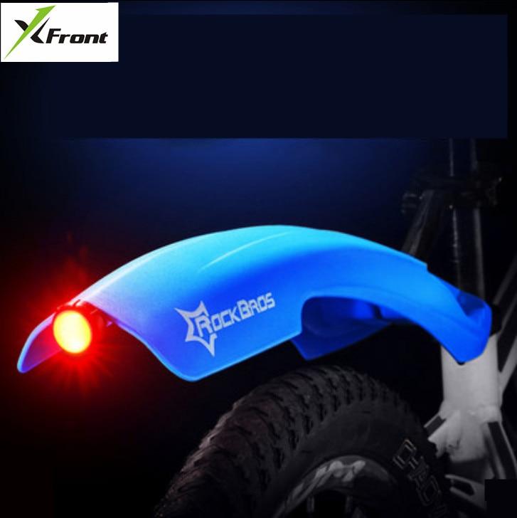 X-Front márka MTB Mudguard Bike Első hátsó gyorskioldó kerékpáros sárvédő kerékpár sárvédő szárny állvány állvány sárvédő figyelmeztető fényszóróval