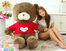 huge lovely sweater teddy bear toy big red clothes teddy bear toy heart sweater bear toy gift doll about 160cm