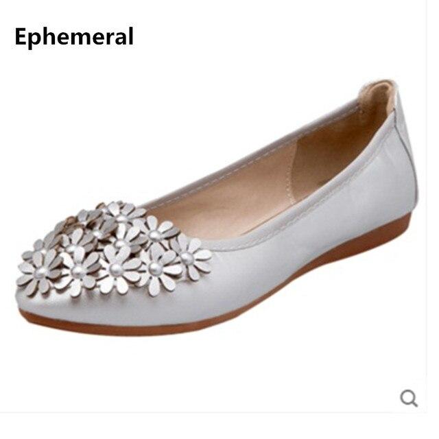 a35a10b9948ac6 Dames ballerines chaussures pour la danse à semelle souple bout pointu fleur  glissement sur les femmes
