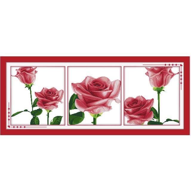 Шаблоны роз для вышивки