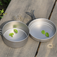 Keith Cookware Pot and Frying Pan 800ml+1250ml Titanium Cookware Picnic Titanium Pot Camping Cookware Camping Pot Ti6017