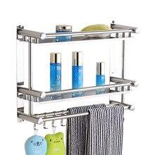 1/2/3 слоя для ванной комнаты из нержавеющей стали для ванной комнаты/Этажерка для шампунь полка висящий мульти-funtional серебро полотенце держатель се