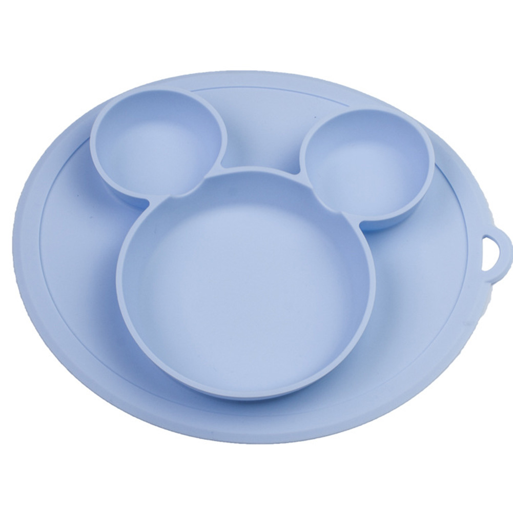 Dishes Dining Plate Cute Cartoon Tableware Baby Feeding Training Food Safe Silicone Tray Kids Children Bowls Solid Non Slip