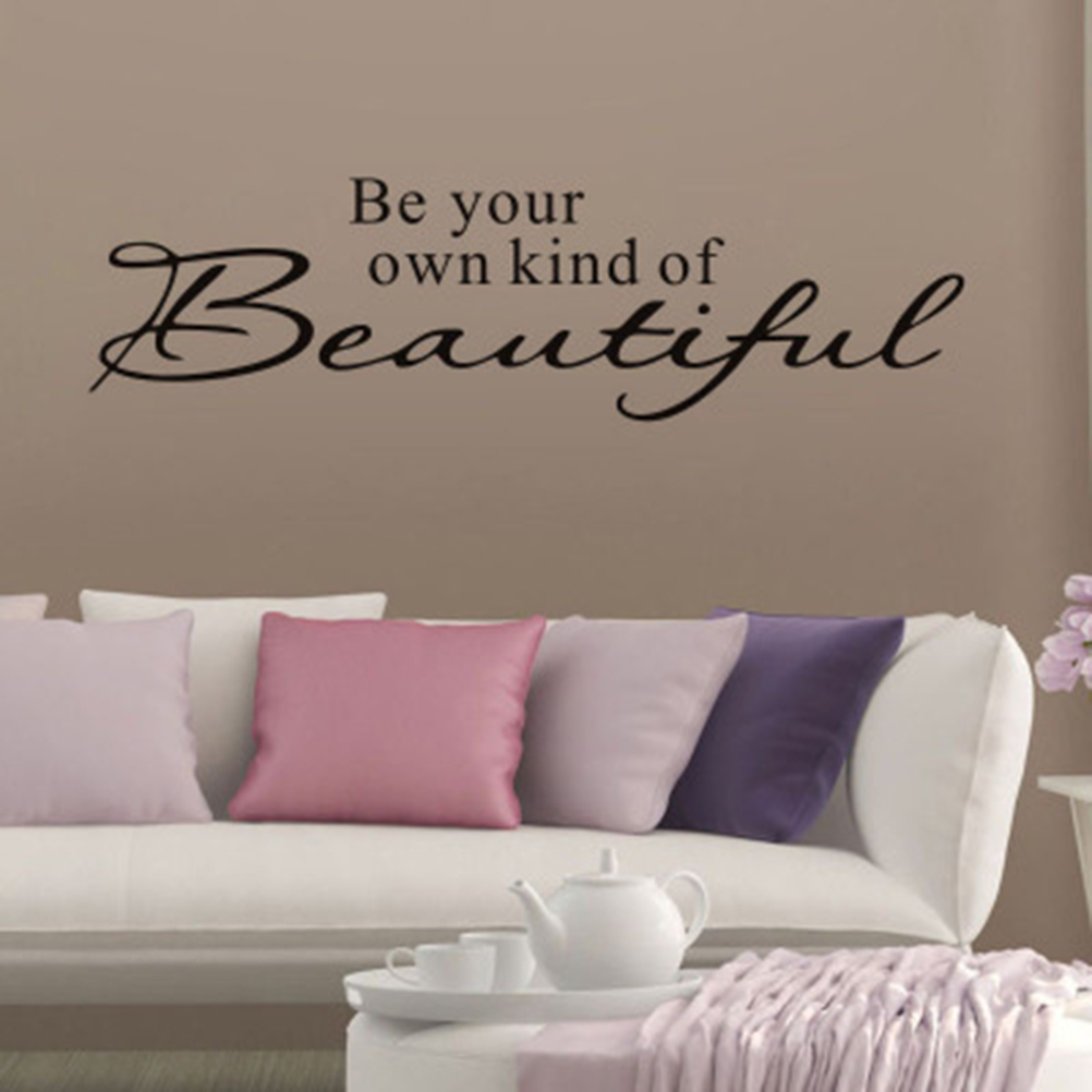 for kids girls bedroom bathroom home decor Be your own kind of beautiful vinyl wall sticker Quotes lettering words