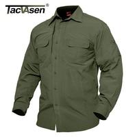 TACVASEN Men S Summer Tactical Clothing Quick Dry Military Shirt Breathable Long Sleeve Shirt Men Combat
