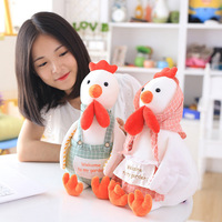 New Coming 40Cm 4 Style Lovely Countryside Plush Toy Doll Aprons Chicken Rooster Dolls Kids Plush