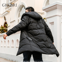 Gersri Oversized New Mens winter jacket Fashion Hooded Winter Coat Men Thick Warm Parka Long Jacket and cat 6XL 7XL 8XL