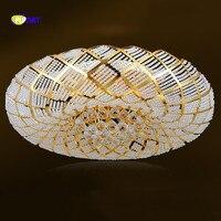 Фумат Кристалл K9 Птичье гнездо Дизайн Stainess Сталь светодиодный хрустальные шары потолочный светильник Роскошные творческий красивые люстр