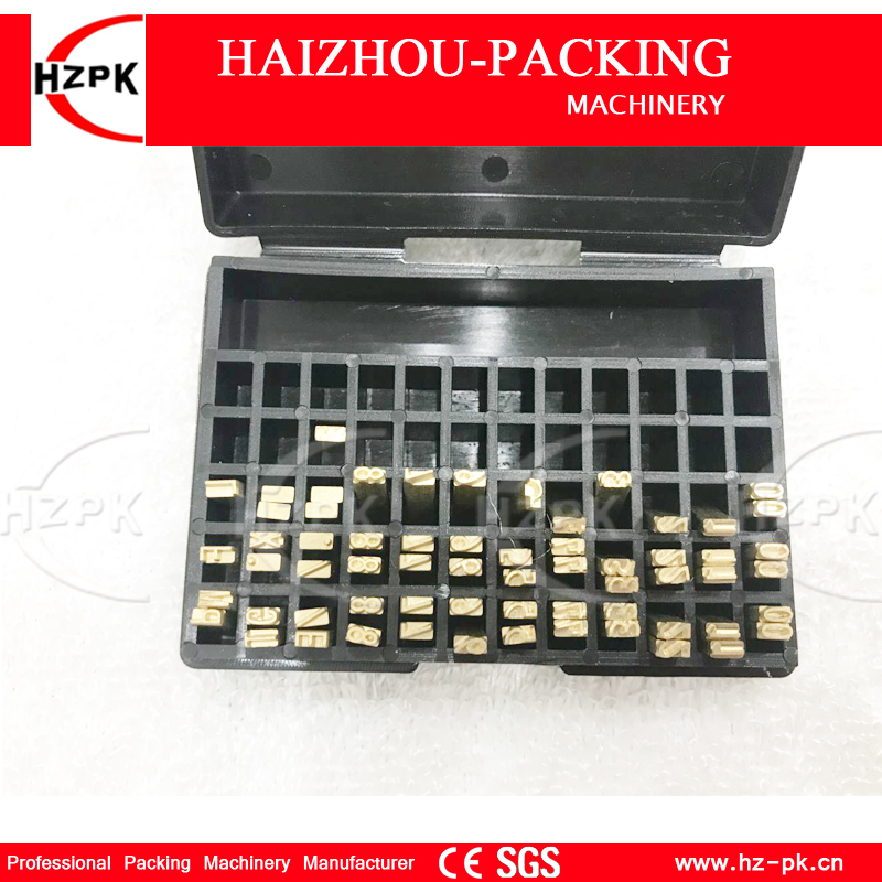 HZPK Letter For DY-8 Manual Color Ribbon Date Printer Set Number/English/Punctuation Alphabet Letter Fonts Coding Machine