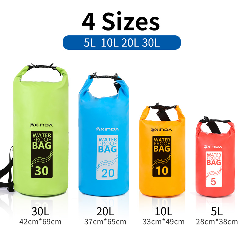 5/10L Outdoor Waterproof Dry Bags Portable Rafting Diving Dry Bag Sack PVC Swimming Bags For River Trekking