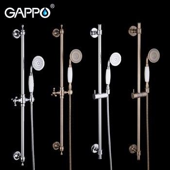 GAPPO slide bar shower hand bath mixer shower faucet bath set shower system brass wall mounted mixer rain waterfall tap grifo