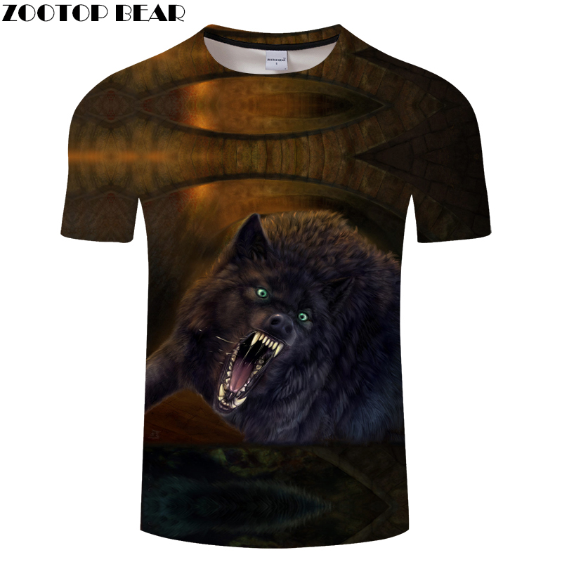 Vintage 3D tshirt Wolf t shirt Men Top Animal Tee Funny t-shirt Streatwear Camiseta Short Sleeve O-neck New Drop Ship ZOOTOPBEAR