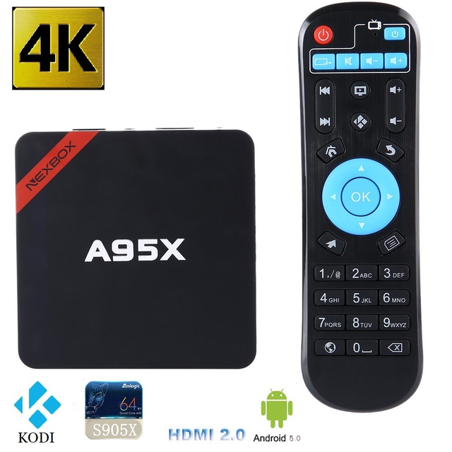 Original amlogic s905x a95x android 6.0 caixa de tv box nexbox max 2 GB 16G Quad core 2.4G Wifi KODI 16.0 Inteligente Media Player TVBox