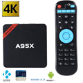 Original s905x nexbox a95x android 6.0 caja de tv box amlogic max 2 GB 16G Quad core 2.4G Wifi KODI 16.0 Reproductor Multimedia Inteligente TVBox
